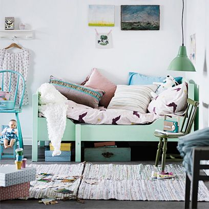 Green, Room, Textile, Interior design, Teal, Turquoise, Pink, Aqua, Furniture, Wall,