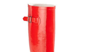 Boot, Red, Riding boot, Carmine, Leather, Costume accessory, Maroon, Knee-high boot, Liver, Coquelicot,