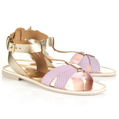 Footwear, Product, Shoe, Sandal, Fashion accessory, Lavender, Tan, Fashion, Purple, Natural material,