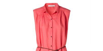 Collar, Sleeve, Textile, Red, Orange, Pattern, Carmine, Fashion, Maroon, Button,