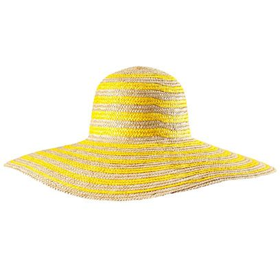 Hat, Yellow, Fashion accessory, Line, Headgear, Costume accessory, Costume hat, Beige, Costume, Fedora,