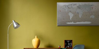 Product, Yellow, Office chair, Room, Table, Floor, Lamp, Wall, Flooring, Picture frame,