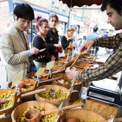 Food, Whole food, Public space, Local food, Ingredient, Produce, Marketplace, Natural foods, Customer, Retail,