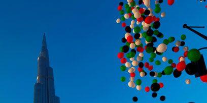 Blue, Sky, Daytime, Tower block, Metropolitan area, Urban area, City, Colorfulness, Metropolis, Tower,