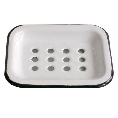 Labour Wait Enamel Soup Dish Coastal Bathroom Accessories Homewares Interiors