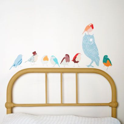 Product, Bird, Wall, Room, Beak, Bed, Teal, Aqua, Turquoise, Azure,
