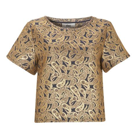Product, Brown, Sleeve, Textile, Pattern, Beige, Visual arts, Active shirt, Pattern,