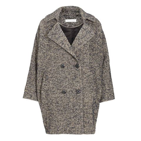 Product, Sleeve, Textile, Outerwear, Collar, Style, Coat, Pattern, Fashion, Grey,