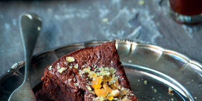 Dish, Food, Cuisine, Ingredient, Chocolate cake, Dessert, Chocolate brownie, Recipe, Flourless chocolate cake, Chocolate,