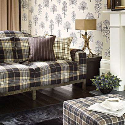 Tartan fabric decorating ideas