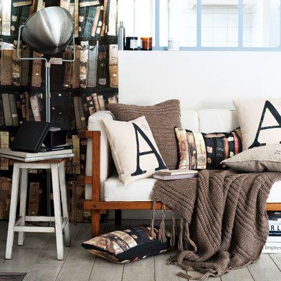 Room, Textile, Interior design, Linens, Lamp, Home accessories, Interior design, Home, Window treatment, Cushion,
