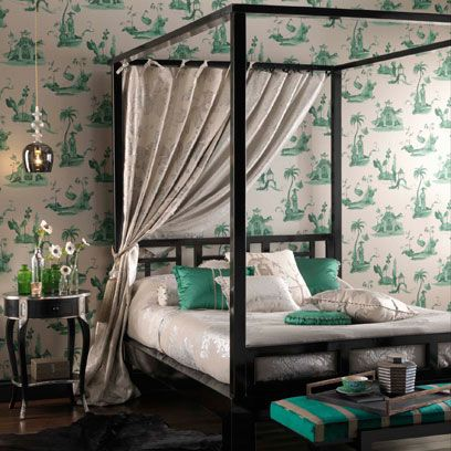 Wood, Green, Room, Interior design, Textile, Wall, Furniture, Bed, Bedding, Home,