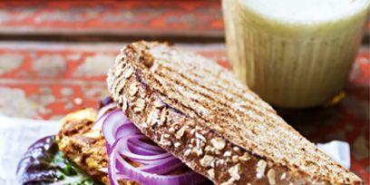 Food, Sandwich, Finger food, Cuisine, Ingredient, Vegetable, Baked goods, Purple, Dish, Recipe,