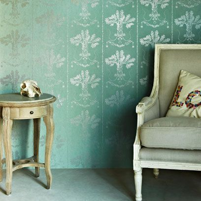 Green, Room, Interior design, Wall, Furniture, Table, Teal, Turquoise, End table, Grey,