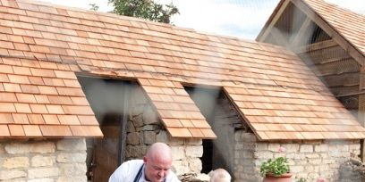 Flowerpot, Brick, House, Roof, Soil, Houseplant, Home, Brickwork, Backyard, Garden,