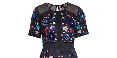 Blue, Product, Sleeve, Dress, Pattern, Textile, Style, One-piece garment, Electric blue, Aqua,