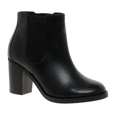 Boot, Leather, Black, Grey, Synthetic rubber,