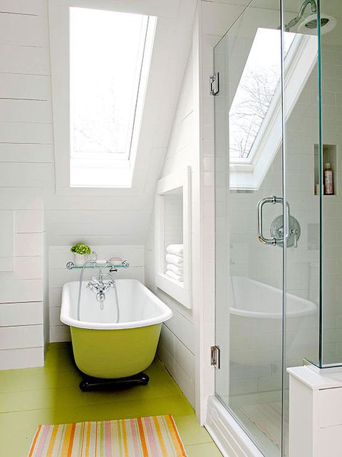 Plumbing fixture, Room, Architecture, Floor, Interior design, Flooring, Property, Wall, Tile, Purple,