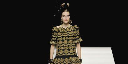 Clothing, Dress, Fashion show, Human leg, Fashion model, One-piece garment, Runway, Style, Fashion, Day dress,