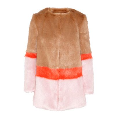 Product, Sleeve, Textile, Outerwear, Orange, Fashion, Woolen, Natural material, Fur clothing, Fur,