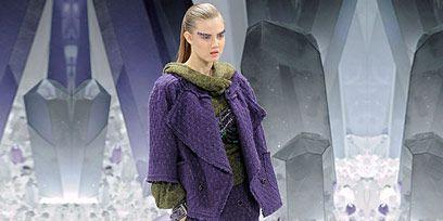 Winter, Sleeve, Style, Purple, Street fashion, Fashion, Pattern, Fashion model, Knee, Violet,