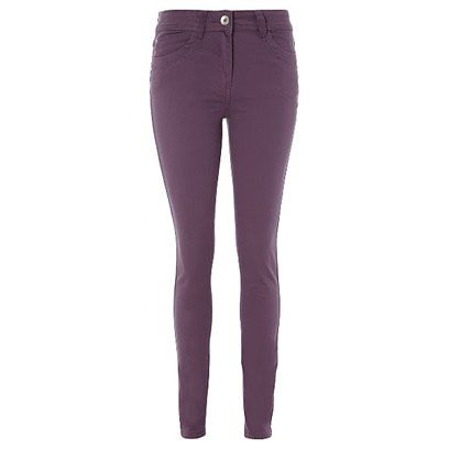 Clothing, Brown, Denim, Standing, Joint, Pocket, Human leg, Waist, Jeans, Purple,