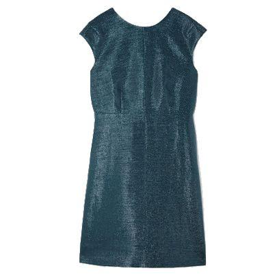 Dress, Sleeve, Textile, White, One-piece garment, Pattern, Day dress, Teal, Electric blue, Aqua,