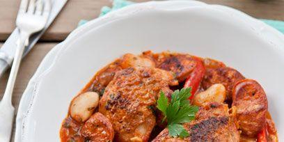 Food, Dishware, Meat, Dish, Stew, Cuisine, Tableware, Kitchen utensil, Recipe, Serveware,