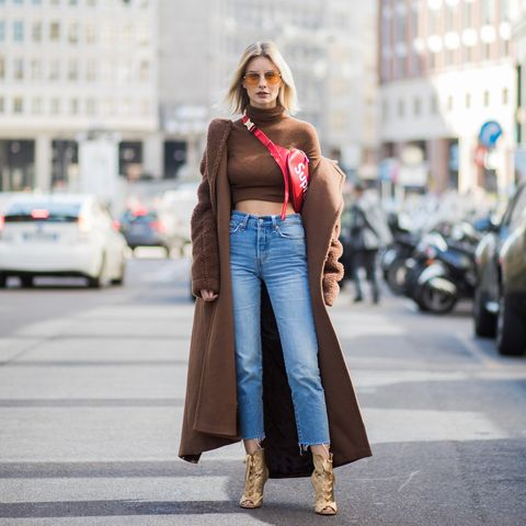 Clothing, Street fashion, Waist, Fashion, Jeans, Brown, Shoulder, Snapshot, Denim, Turquoise,