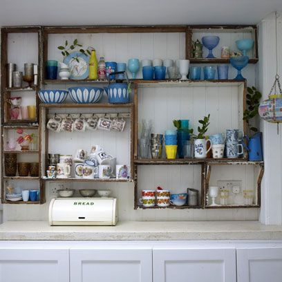 Shelving, Wall, Shelf, Turquoise, Collection, Paint, Serveware, Display case, Porcelain, Bottle,