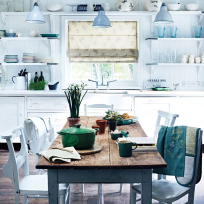 Room, Interior design, Green, Furniture, White, Turquoise, Table, Teal, Interior design, Flowerpot,