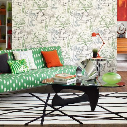 Green, Room, Furniture, Wall, Interior design, Couch, Turquoise, Outdoor furniture, Living room, Interior design,