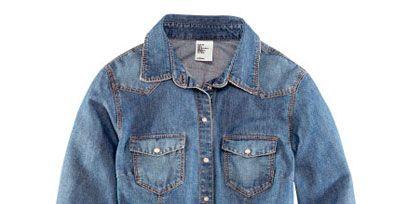 Clothing, Blue, Product, Collar, Sleeve, Denim, Textile, Jacket, Outerwear, White,