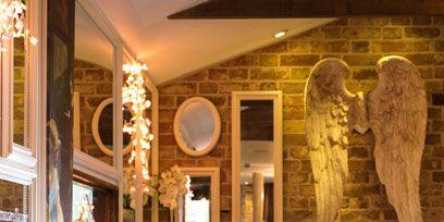 Barware, Interior design, Drinkware, Glass, Interior design, Stemware, Picture frame, Ceiling, Drink, Light fixture,