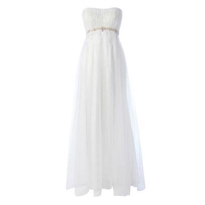 Product, Textile, White, Formal wear, Wedding dress, One-piece garment, Dress, Day dress, Gown, Pattern,