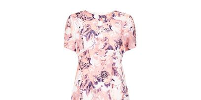 Sleeve, Pattern, Dress, Baby & toddler clothing, Day dress, One-piece garment, Peach, Pattern, Nightwear, Active shirt,