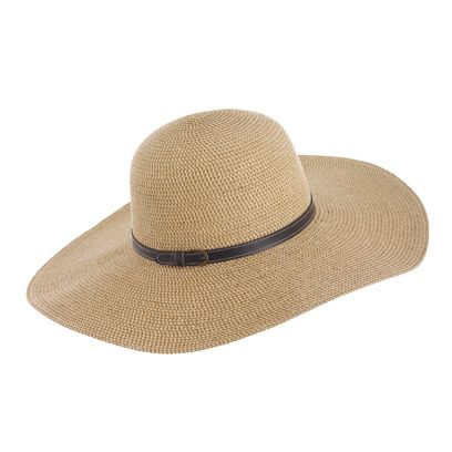 422a84f0 Beach Collection. The thin black belt detail makes this sun hat ...