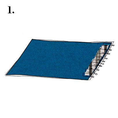 Slope, Azure, Electric blue, Rectangle, Linens,