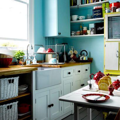Countertop, Kitchen, Room, Furniture, Cabinetry, Interior design, Shelf, Home, Floor, Tile,
