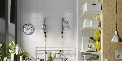 White, Room, Furniture, Living room, Interior design, Property, Shelf, Yellow, Building, Wall,