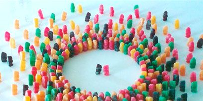 Colorfulness, Pink, Sweetness, Circle, Creative arts, Craft, Mixture, Confectionery,