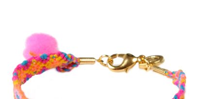 Product, Pink, Fashion accessory, Magenta, Font, Fashion, Pattern, Earrings, Orange, Chain,