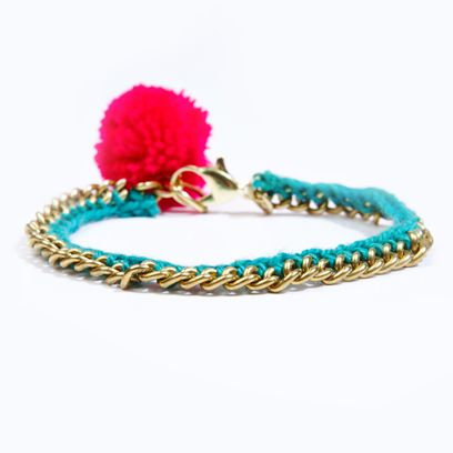 Jewellery, Fashion accessory, Teal, Turquoise, Aqua, Natural material, Costume accessory, Magenta, Creative arts, Craft,