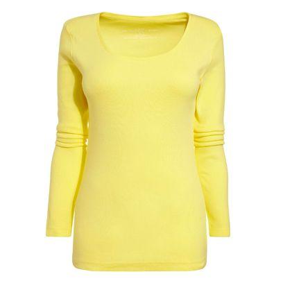 Yellow, Sleeve, Pattern, Neck, Electric blue, Aqua, Teal, Pattern, Fashion design, Active shirt,