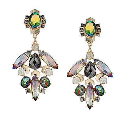 e64569491 Cluster Stone Chandelier Earrings by Dorothy Perkins