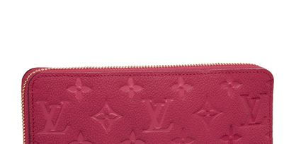 Brown, Textile, Red, Wallet, Rectangle, Pattern, Maroon, Magenta, Leather, Material property,