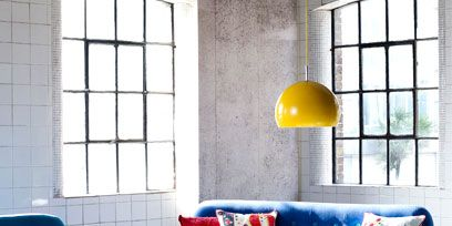 Blue, Room, Interior design, Yellow, Wood, Green, Floor, Furniture, Living room, Home,