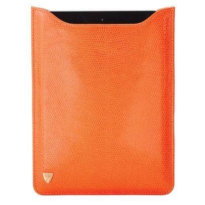090b1f0229b155 Orange iPad sleeve from Aspinal of London