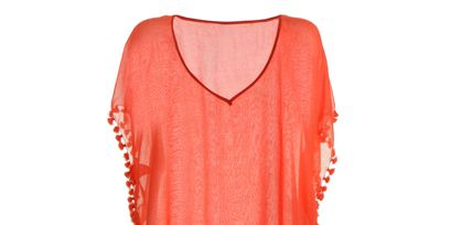 Product, Sleeve, Textile, Red, Collar, Orange, Pattern, Carmine, Neck, Maroon,