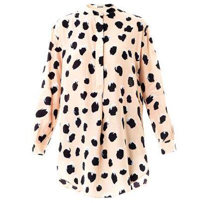 Sleeve, Pattern, Textile, Coat, Orange, Collar, Electric blue, Polka dot, Street fashion, Blazer,